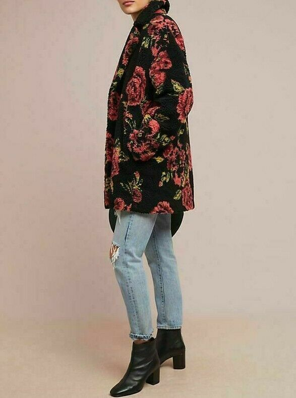 Anthropologie Winter Roses Coat by If By Sea Sz XL - NWT image 5
