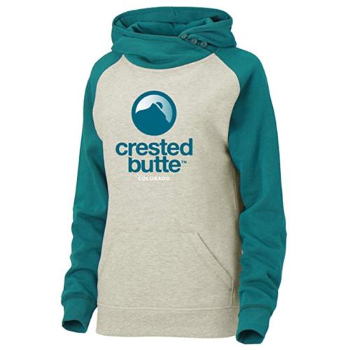 Small 4-6 Women's Ouray Sportswear Hoodie Crested Butte Resort Asym Redux Fleece