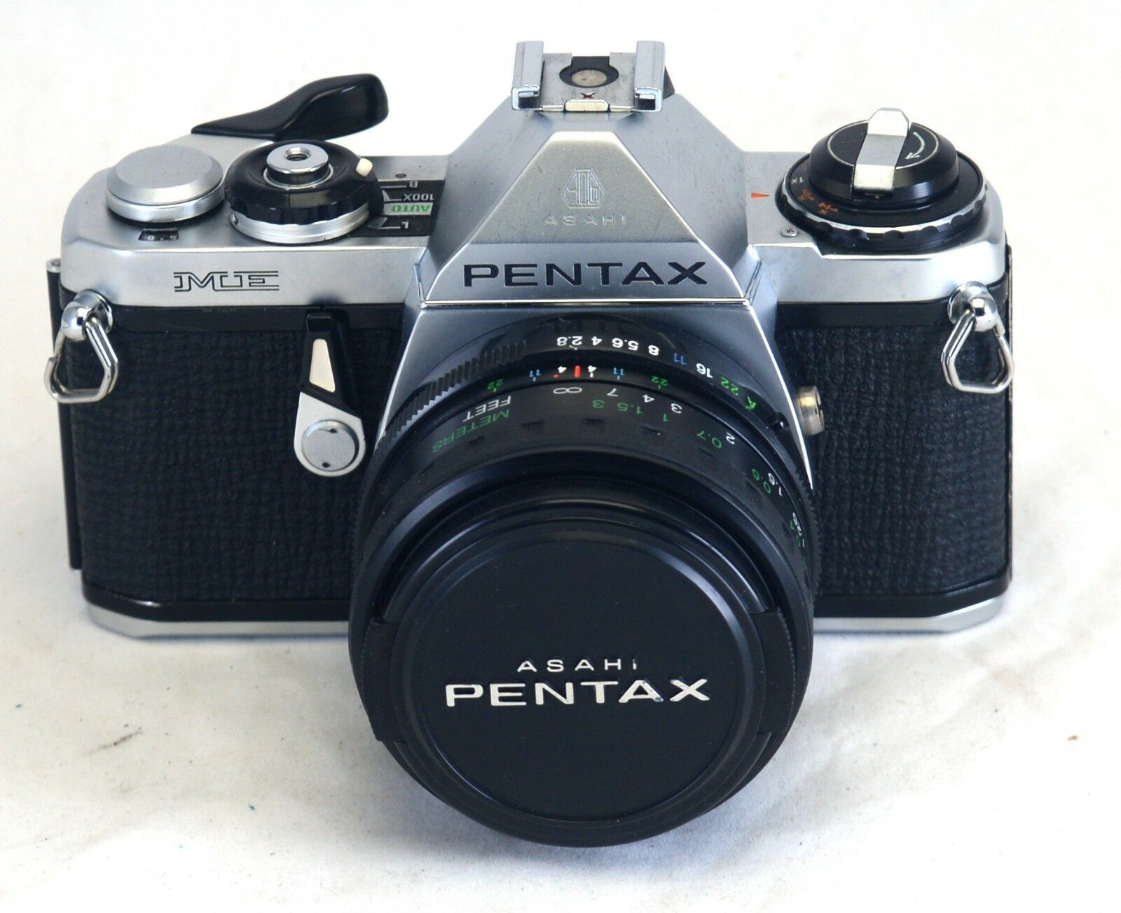 ASAHI PENTAX ME Vintage 35mm FILM Camera Vivitar 28mm f/2.8 Wide Angle MC Lens