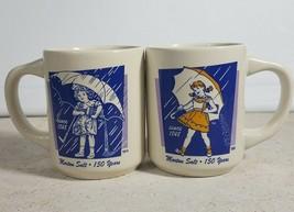 Bryan China Morton Salt 150 Years 1914 & 1956 Coffee Mugs Set of Two 2 -... - $29.69