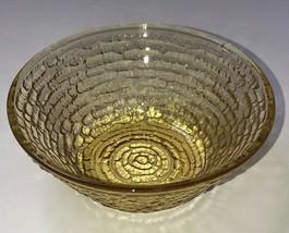 Soreno Amber Anchor Hocking Berry Bowl Small Bowl Yellow Bark Textured - $12.86