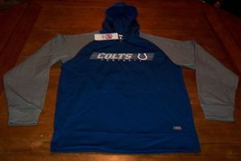 INDIANAPOLIS COLTS NFL FOOTBALL HOODIE HOODED SWEATSHIRT MEDIUM NEW w/ TAG - $39.60