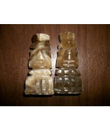 "2  Marble/ONyx Chess Pieces Bishop Hand Carved Stone Chessmen 3-1/2"" - $9.99"