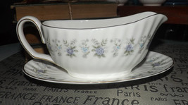 Vintage (1970s) Minton Alpine Spring gravy boat and matching under plate. - $50.99