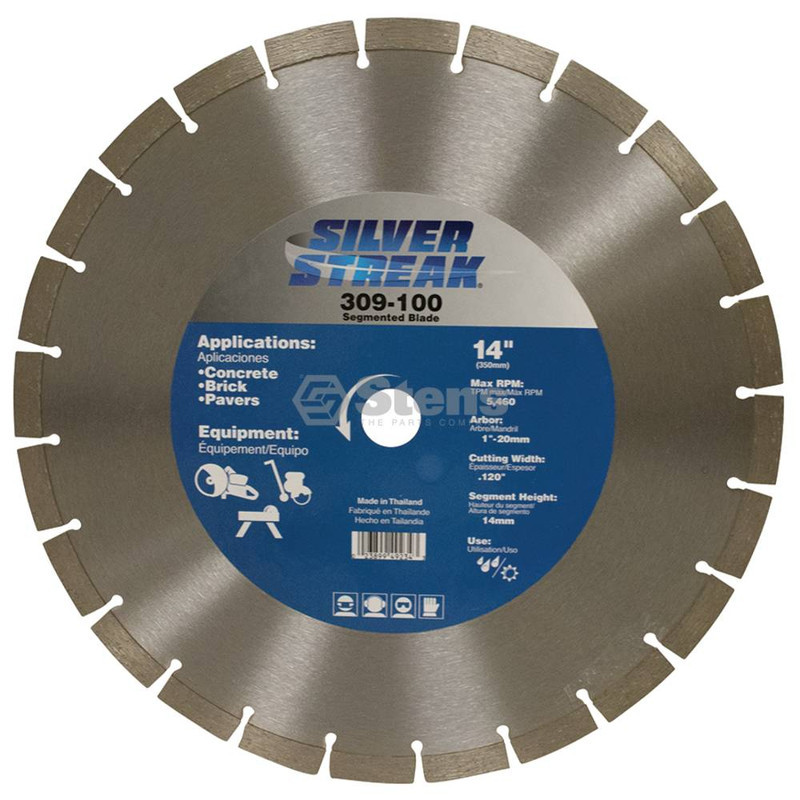 Stens 309-100 Silver Streak Segmented Blade Cut-Off Saw 14mm Rim Height image 2