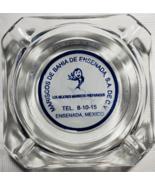 "Mariscos de Bahia de Ensenada, S.A. DE C.V. Mexico Glass Ashtray 3-1/2"" ... - $8.95"