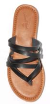 NEW Universal Thread Women's Black Maritza Multi Strap Toe Slide Sandals image 3