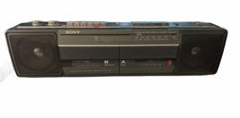 Sony CFS-W301 Sound Rider Dual Cassette Recorder AM-FM Stereo. Missing A... - $25.99