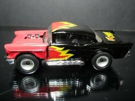 Black W/FLAMES 57 Chevy Bel Air Premiere Colection Loose Matchbox 1/64 Car - $9.44