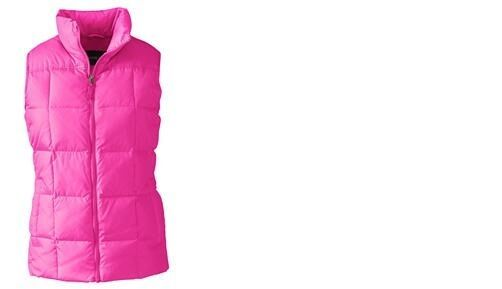 Lands End Women's Down Vest Soft Magenta New