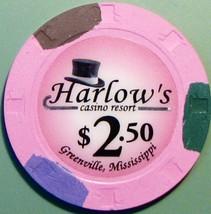 $2.50 Casino Chip. Harlow's, Greenville, MS. V40. - $5.50