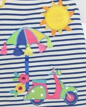 Rare Editions 2 Piece Set Summer Dress Scooter Umbrella Bloomers Size 12 Months image 2