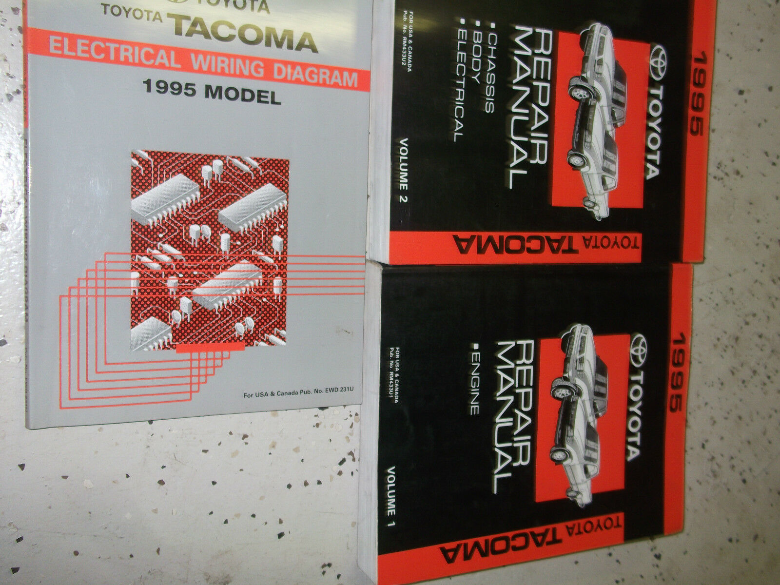 Primary image for 1995 Toyota Tacoma TRUCK Service Repair Shop Manual Set OEM W EWD Factory