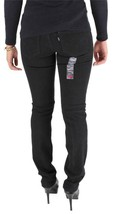 NEW NWT LEVI'S 524 JUNIOR'S CLASSIC SLIM STRAIGHT JEAN LEGGINGS BLACK 115220052 image 2