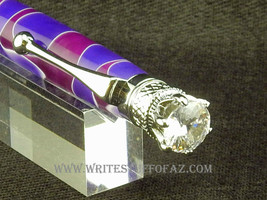 Queen Crown Royal Jewel Designer Purple and Lavender with Crystal - $34.99
