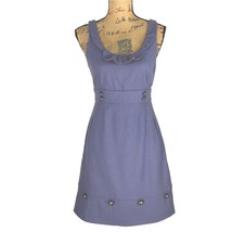 Anthropologie Dress 4 Blue Ruffle Button Pocket MOULINETTE SOEURS Famili... - $29.95