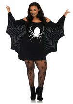 Leg Avenue Jersey Spider Web Dress Plus Size  Womens Halloween Costume 8... - $26.99
