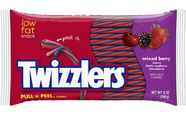 4 packs TWIZZLERS PEEL N PULL Licorice Soft Chewy Candy 12 oz Mixed berry - $19.99
