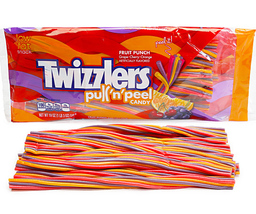 12 packs TWIZZLERS PEEL N PULL Licorice Soft Chewy Candy 12 oz Mixed berry - $79.99