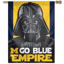 "University of Michigan Empire 27""x37"" Banner Flag Star Wars NEW GO Blue - $13.83"