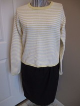 J.Crew Yellow Striped  100% Cotton Sweater - $16.89