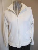 H & M Cream Colored Jacket Front Zipper - $16.89