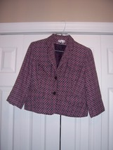 Worthington Blazer Size 12 Chic shades of purple blocked - $16.89