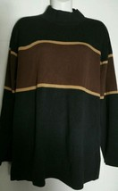 Vintage Talbots Sweater Extra Large Cotton Tunic Striped Hong Kong Talbot's     - $16.81