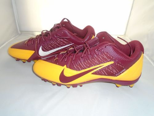 NEW Nike Alpha Pro Football Cleats Size 12 Maroon & Gold Color Redskins FlyWire