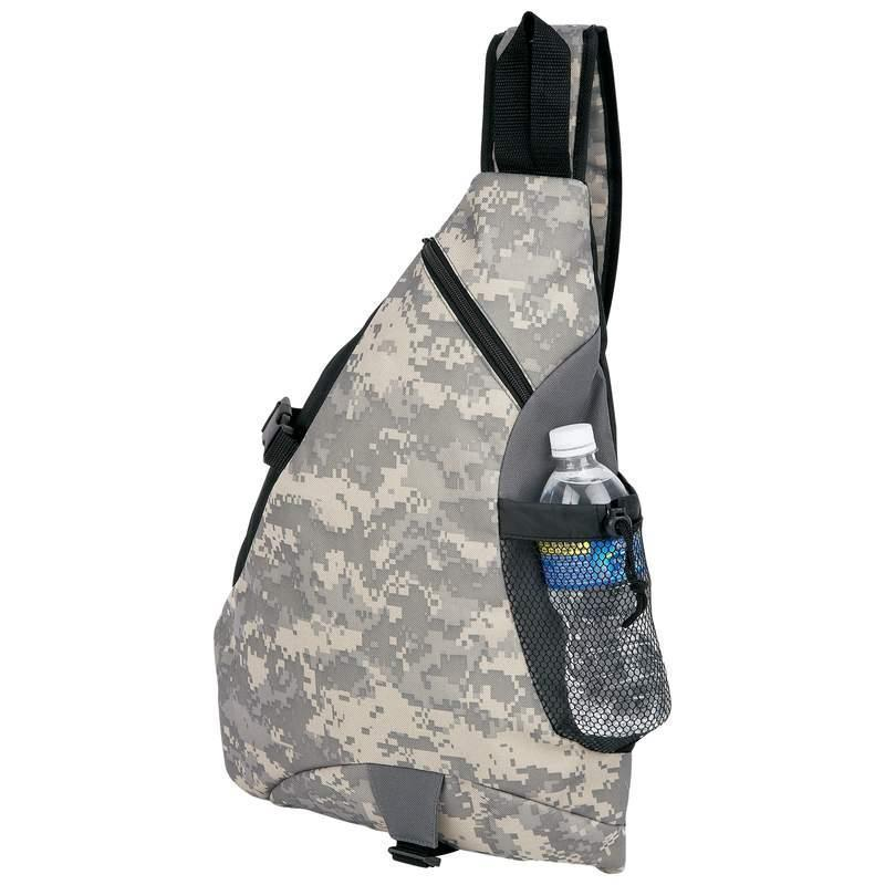 Heavy Duty Digital Camo Water-Resistant Sling Backpack