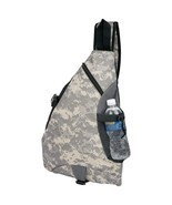 Heavy Duty Digital Camo Water-Resistant Sling Backpack - £20.93 GBP