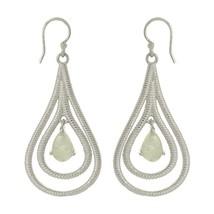 Women wedding rainbow moonstone gemstone solid 925 sterling earring SHER0004 - $34.22