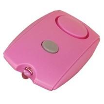 Pink Mini 120db Ear Piercing Personal Alarm W/ Keychain, Flashlight & Be... - $10.42