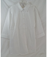 Women's Plus Size Maternity Poplin Blouse in Wh... - $23.49