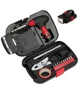 16 Piece Emergency Tool Kit With Ratcheting T-Handle, Bits, Case W/ Ligh... - £19.68 GBP