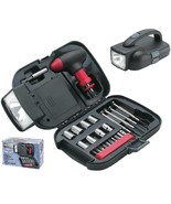 25 Piece Emergency Tool Set With Ratcheting T-Handle, Bits, Sockets, Cas... - $26.13