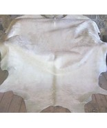 All Off White Brazilian Cowhide Rug X-Large 41 to 46 s.f. - $649.00
