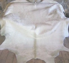 All Off White Brazilian Cowhide Rug Large 36 to 40 s.f. - $599.00