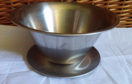 Vintage Unmarked Silver Silver Plate? Bowl w/ a... - $12.65