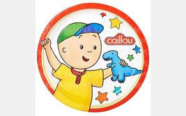 "Caillou Dinosaur Toy Edible Image Photo 8"" Round Cake Topper Sheet Perso... - $9.99"