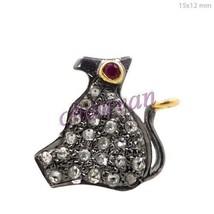 Vintage Reproduction  Rose Cut Diamond 92.5% Oxidised Silver Pendant @CSJUK463 - $92.19