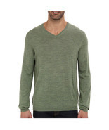 Calvin Klein Men's Merino V-Neck Sweater, Pasture Heather Small - £21.97 GBP