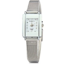 WoMaGe Thin Fashion Watch  White Rectangle Dial... - $27.50
