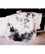 Salt and Pepper Black Natural Brazilian Cowhide Rug Medium 32 to 36 s.f. - $249.00
