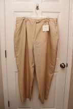 Lane Bryant  Designs - Slub 100% Silk Lined Dress Pants Tan 28 Avg - $19.23