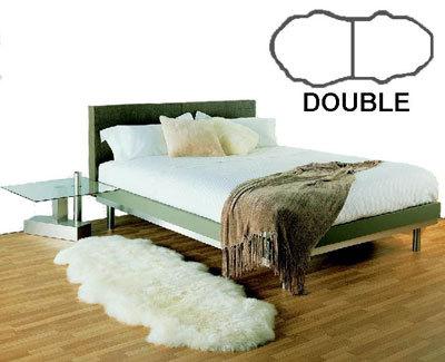 Double  Bowron Sheepskin Pelt Rug Natural