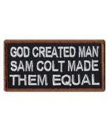 Motorcycle Biker Jacket/Vest Embroidered Patch - God Created Man, Sam Co... - $6.99