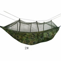 Portable Parachute Fabric Hammock with Mosquito Net For Outdoor Camping 2# - $24.26