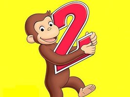 Curious George 2 Year Old Edible Cake Topper Frosting 1/4 Sheet Birthday... - $13.41 CAD