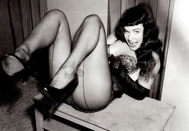 Bettie Page TKK Vintage 8X10 BW Memorabilia Photo - $6.99
